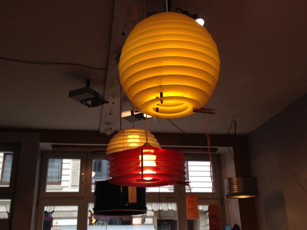 Lampen aus Vinyl